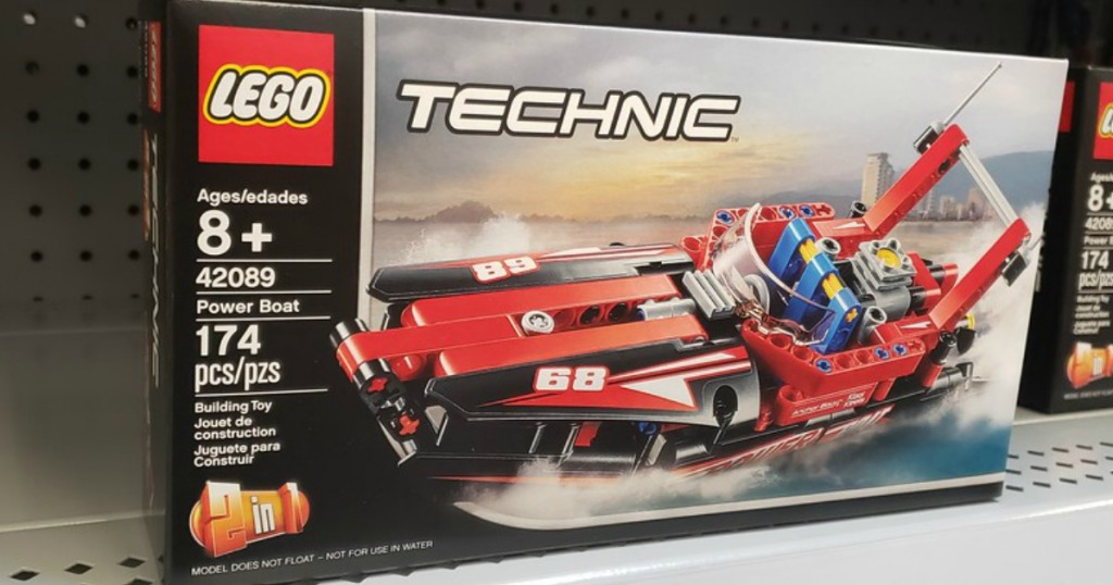 LEGO Technic Power Boat Set on a store shelf