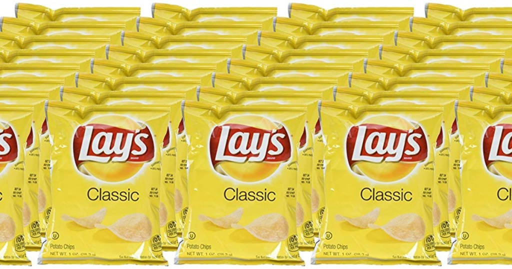 40 bags of lays classic potato chips
