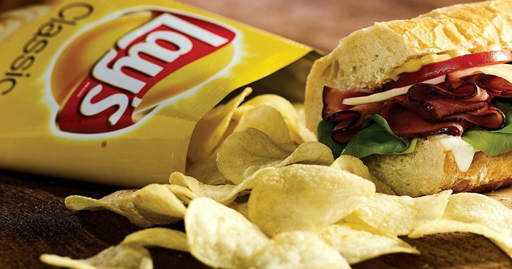 Lay's Classic Potato Chips by a sandwich