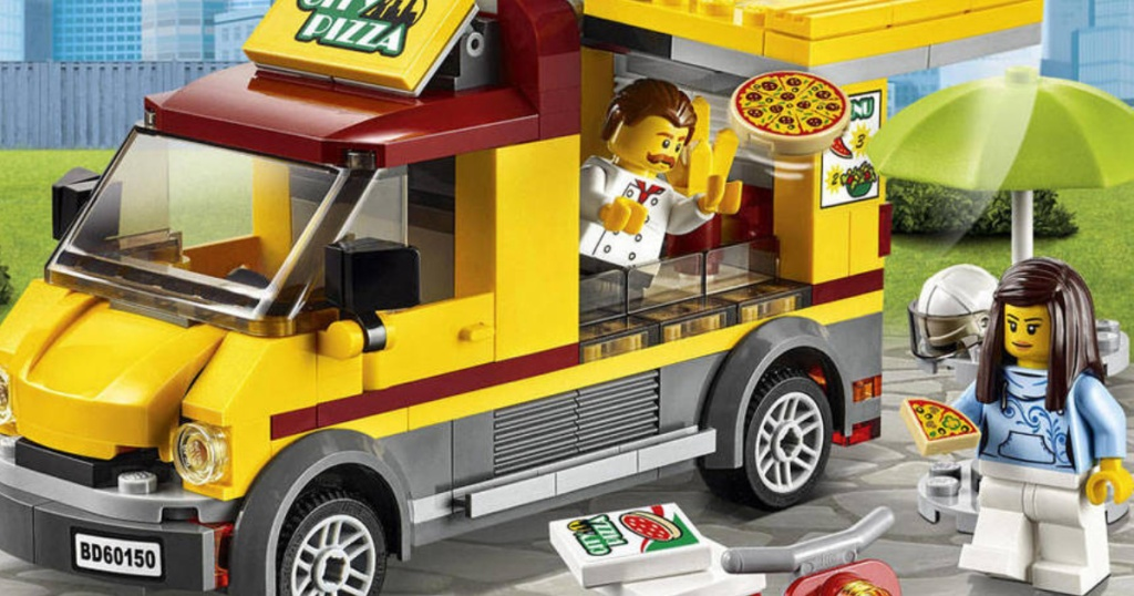 Lego City Pizza Van Pizza