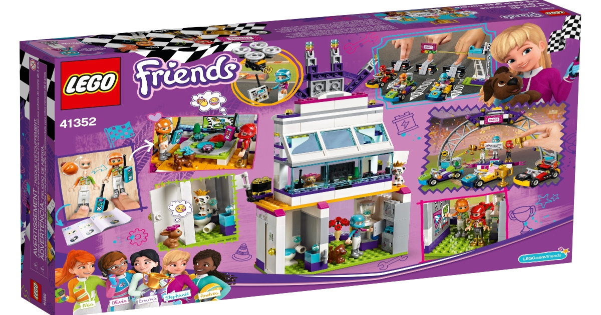 LEGO Friends, the big race day set, in a large purple box.