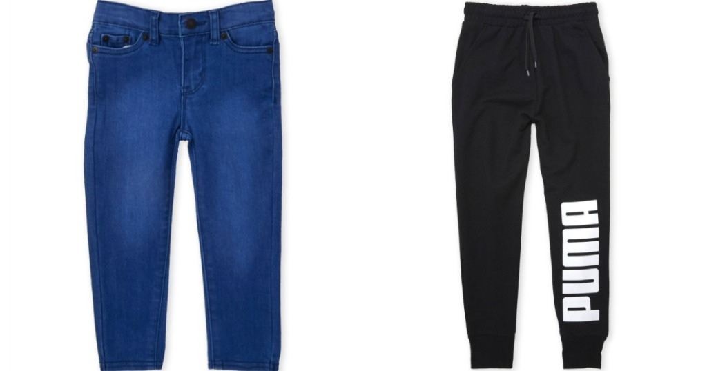 Levi Jeans and Puma Jogger pants