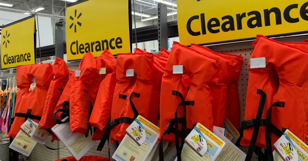 life jackets on clearance at walmart