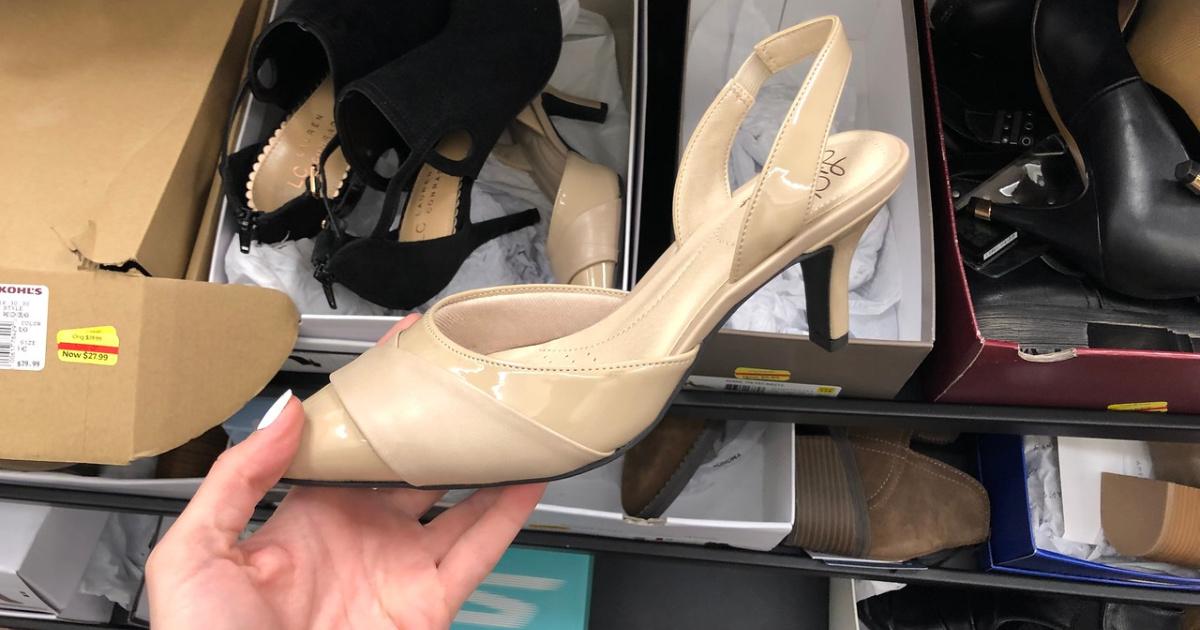 kerra womens slingback heels