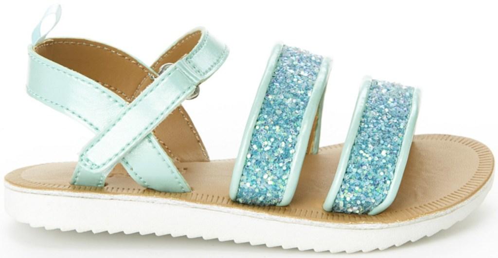 Glittery Blue Girls strapy sandal