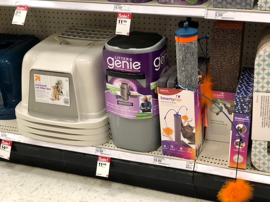 litter pail at Target on shelf