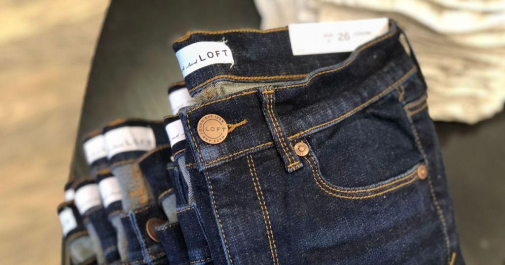 Loft Jeans in store