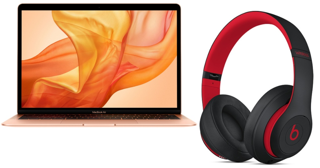 macbook air and beats headphones