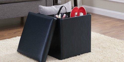 Mainstays Collapsible Storage Ottoman Just $7.99 at Walmart