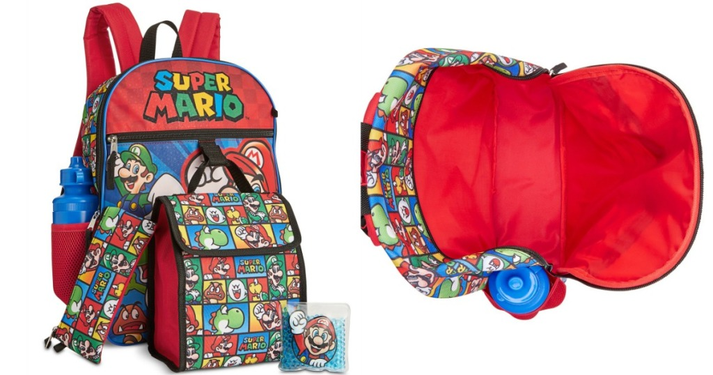 Mario Backpack with accessories