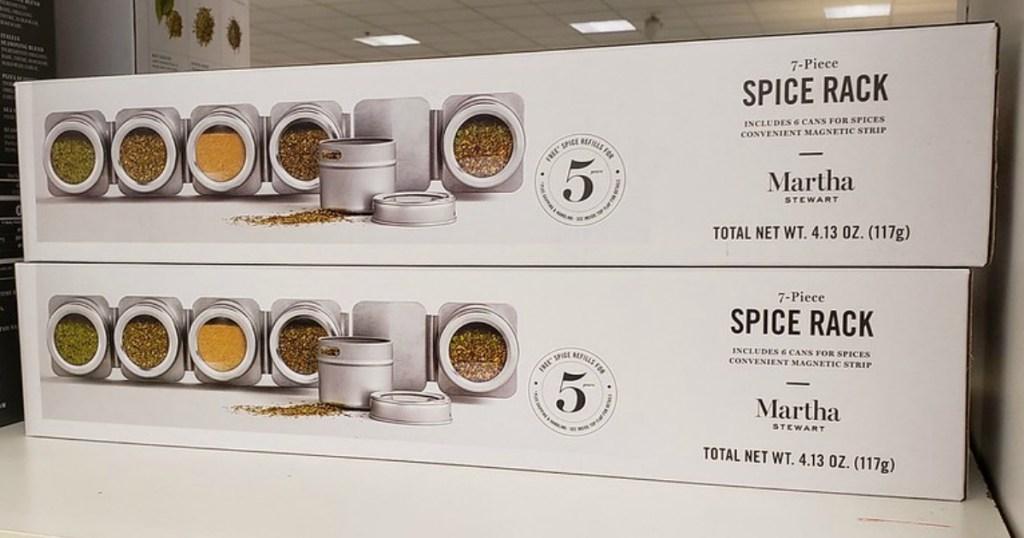 Martha Stewart 6-Piece Magnetic Spice Rack