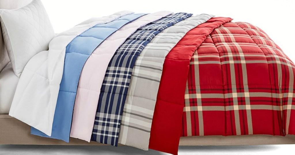 Martha Stewart Reversible Comforters on bed
