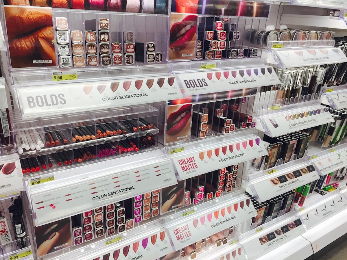 Maybelline cosmetics at Target