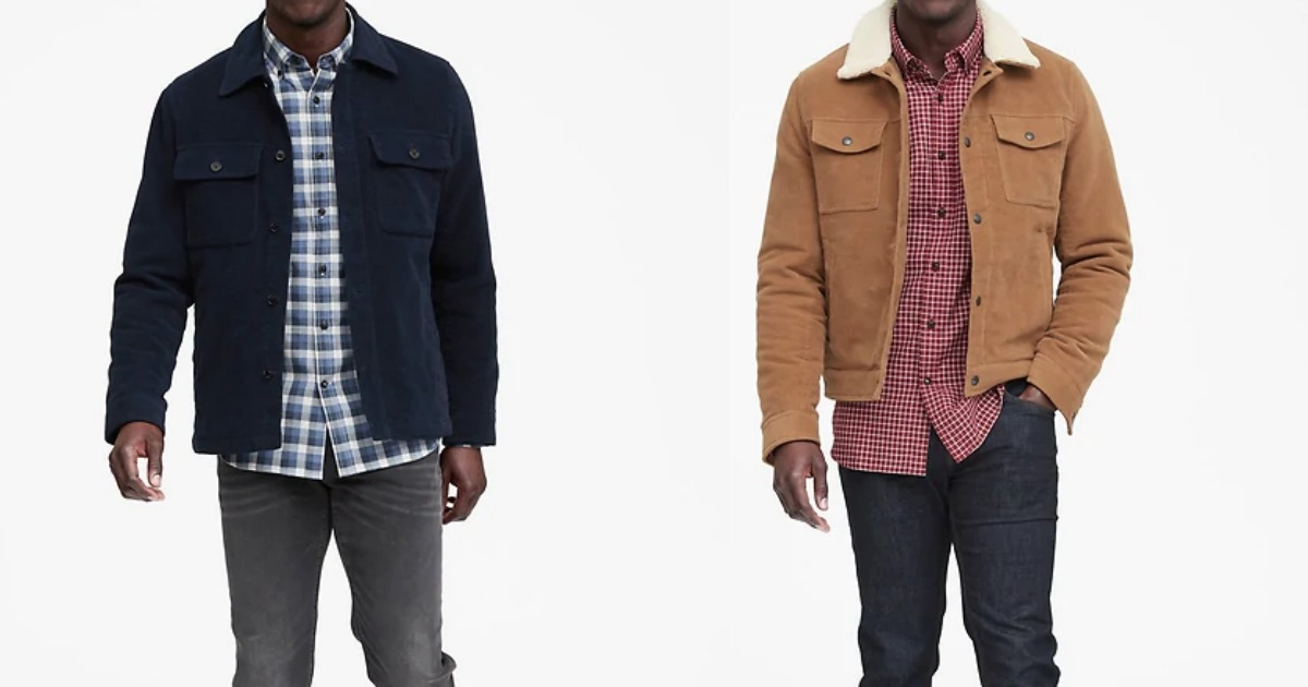 Men in button-down tops with jackets