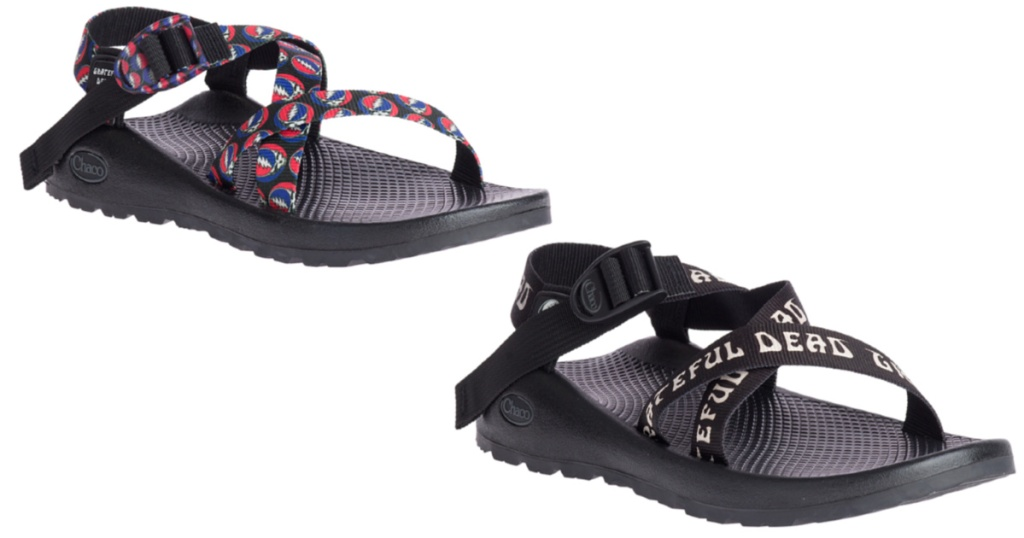 mens and womens grateful dead chaco sandals