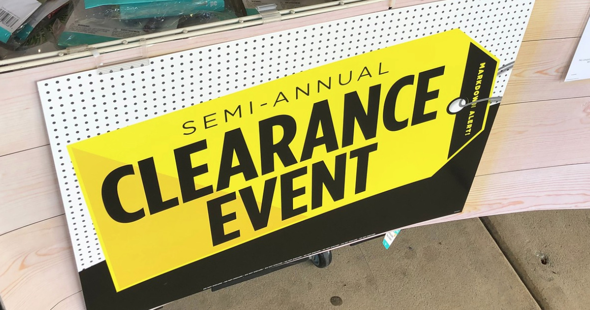 Michaels Semi Annual Clearance Event Sign