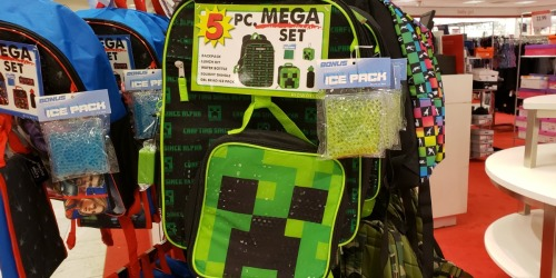 Kids Character 5-Piece Backpack Sets Only $11.99 at Macy's (Regularly $40)   Includes Lunch Bag, Water Bottle & More