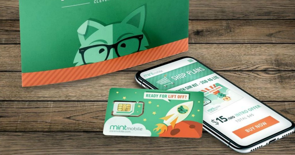 Mint Mobile Phone and SIM card