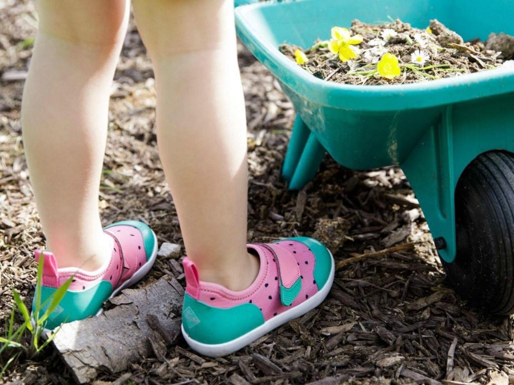 Girl gardening wear Watermelon sneakers