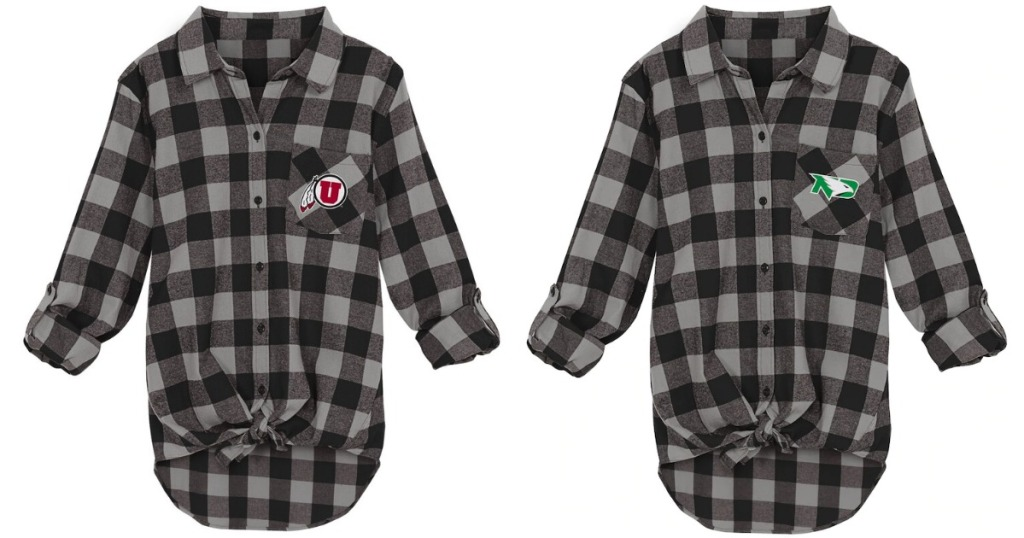 NCAA Flannel Junior's Top