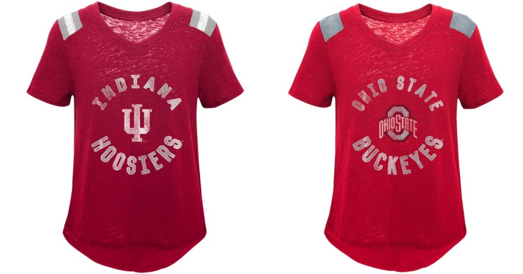 NCAA Girl's Slubbed Vintage Tees