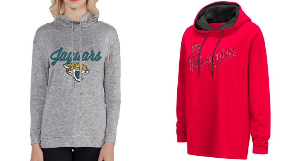 NCAA Women's Hoodies in gray and red