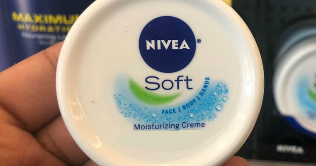 container of NIVEA soft creme