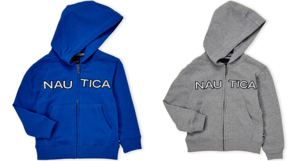 Nautica Hoodie for boys in blue or gray