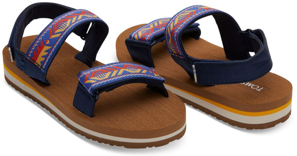 Navy Global Webbing Youth Ray Sandals