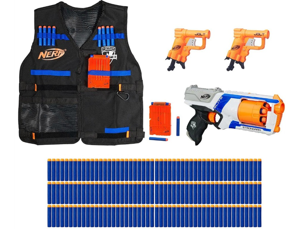 nerf n strike bundle with vest, nerf blasters and darts