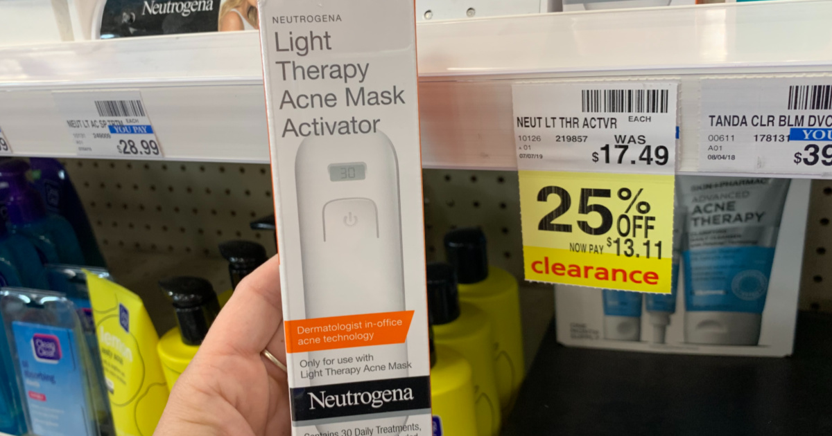 Nuetrogena light therapy acne mask