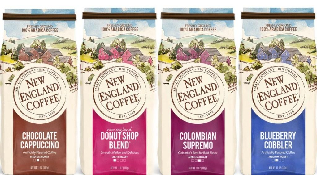 Flavored coffee in four varieties