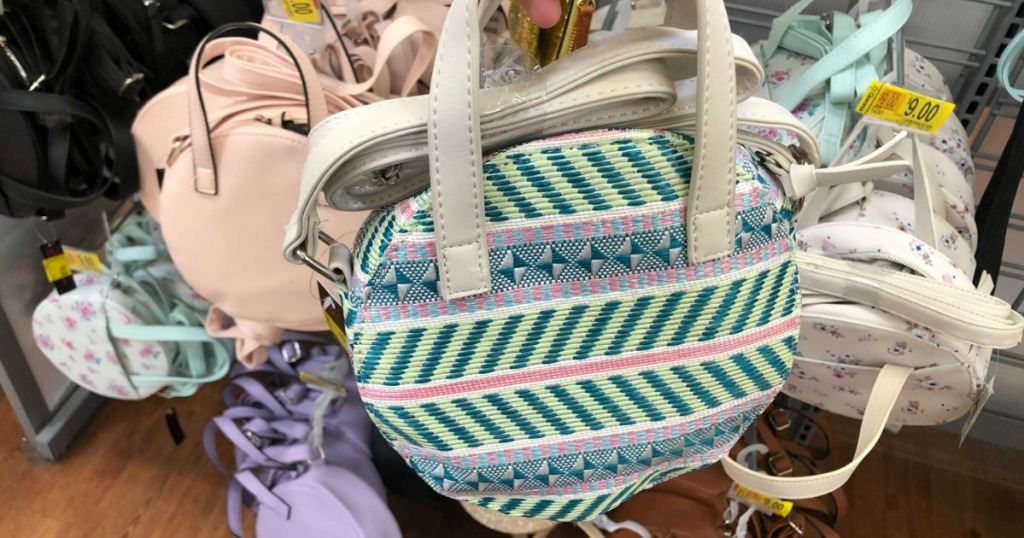 Green Striped Circle Bag
