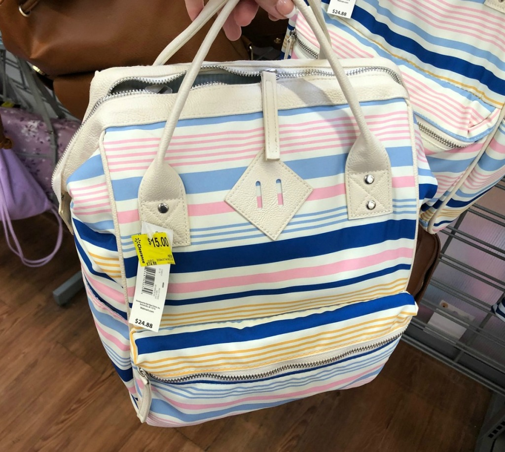 Striped summer backpack bag at walmart in store