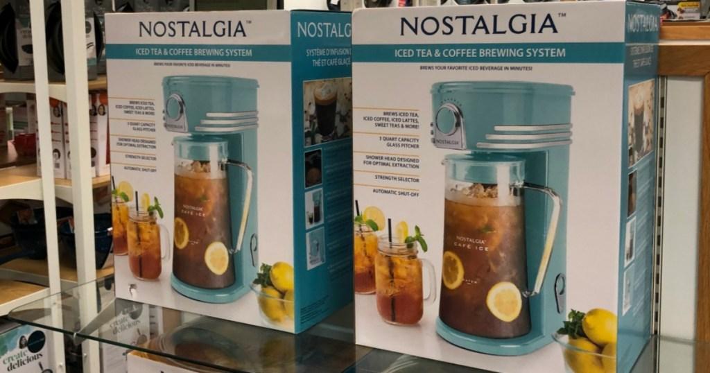 Nostalgia Iced Tea & Coffee Brewing System on shelf