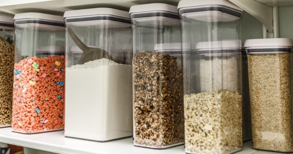 oxo pop containers on shelf