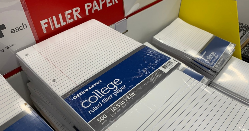 Office Depot Filler Paper