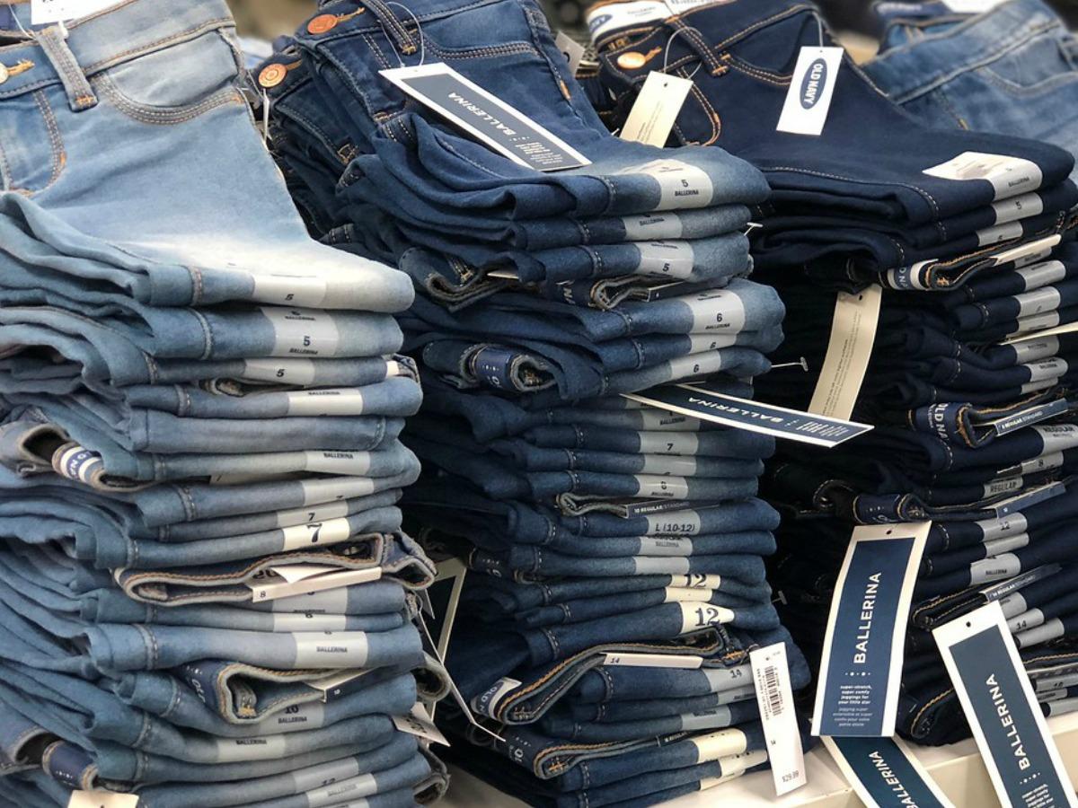 Old Navy Kids Jeans on shelf