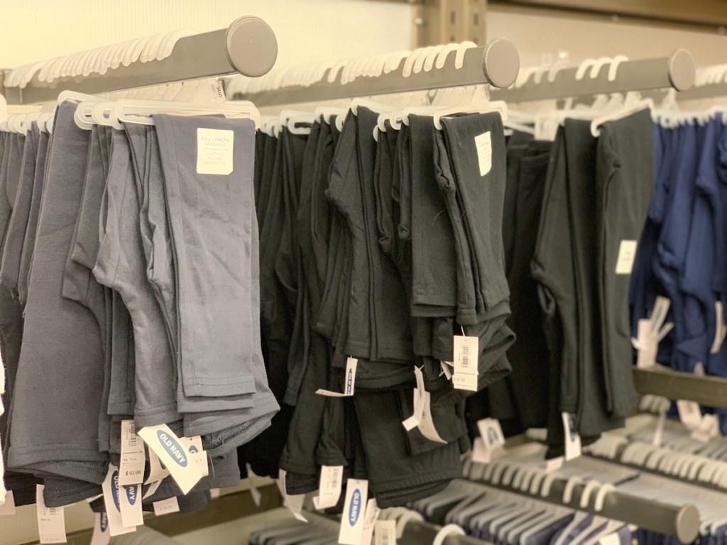 Old Navy Leggings on hangers