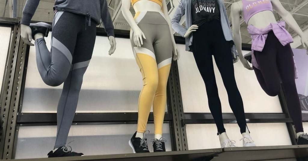 Old Navy Women's Leggings on mannequins in the store