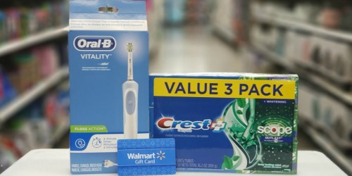 Oral-B Vitality Electric Toothbrush, Crest Toothpaste Multi-Pack + $10 Walmart eGift Card as Low as $33.30