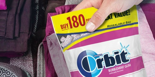 Orbit Sugarfree Gum 180-Piece Resealable Bag Only $5.36 Shipped on Amazon