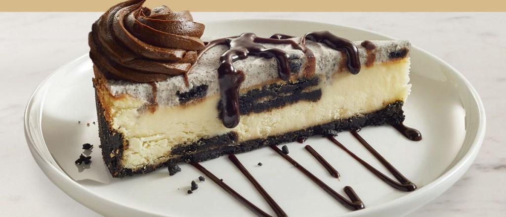 Oreo Cheesecake on a plate