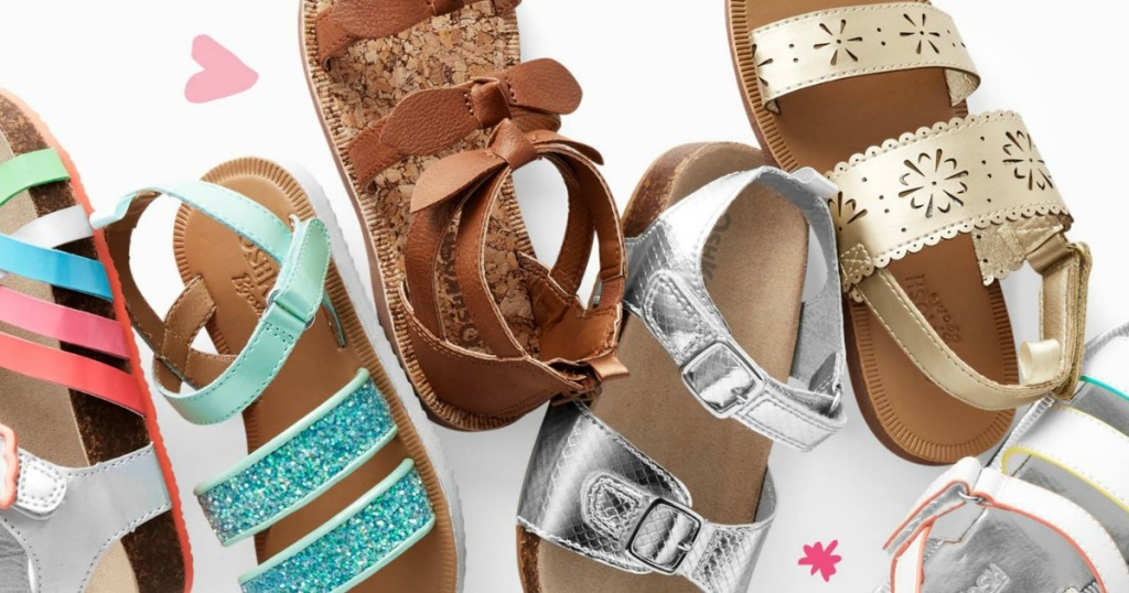 A variety of kids shoes and sandals