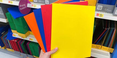15¢ Pocket Folders at Walmart