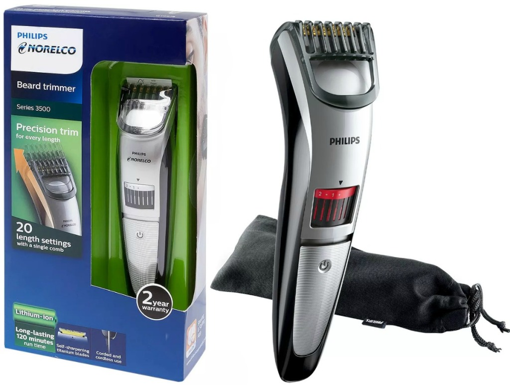 Pack for rechargeable electric beard and hair trimmer