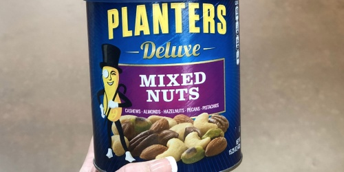 Amazon: Planters Deluxe Mixed Nuts BIG Canister Only $5 (Regularly $9.44)