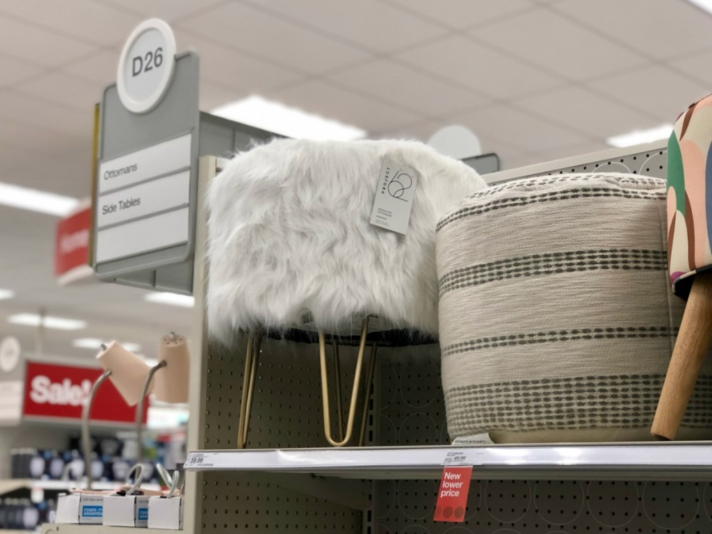 Marvelous 25 Off Project 62 Faux Fur Ottoman At Target Com Andrewgaddart Wooden Chair Designs For Living Room Andrewgaddartcom