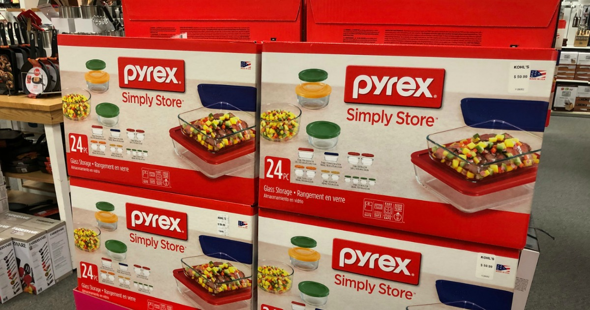 Store display of Pyrex food storage
