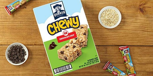 Quaker Chewy Granola Bars 58-Count Only $6.88 Shipped at Amazon | Just 12¢ Each